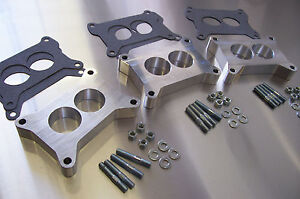 Fits Holley Tri Power Fe Ford Aluminum Spacer Chevy Six Pack Manifold Riser 1