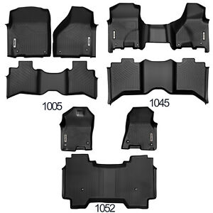 Oedro All Weather Tpe Car Floor Mats Liners For Dodge Ram 1500 Series Models Cab