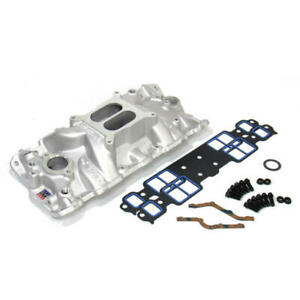 Edelbrock Intake Manifold 2701 Kit Performer Eps With Bolts Gaskets For Sbc
