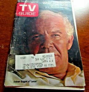 VINTAGE TV GUIDE AUGUST 2ND 1969 ANDREW DUGGAN OF LANCER COVER $15.29