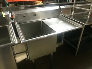 39 1 compartment Stainless Steel Commercial Sink With Right Drainboard