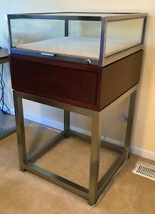 Glass Wood And Stainless Steel Display Case From Polo Factory Store