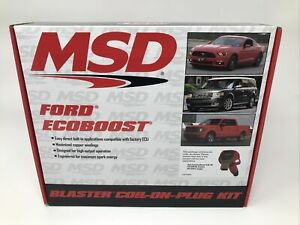 Msd Ignition 82576 Ford Ecoboost Direct Ignition Coil Set New In Box Ships Free