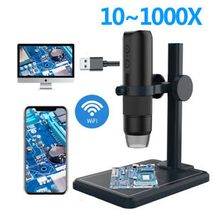 Microscope 1000x Magnifier Tool W 8led Lights Connect Mobile Phone Computer