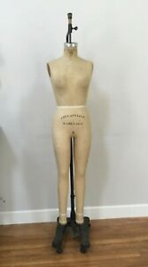 Vintage Model 1978 Wolf Full Body Womens Dress Form Mannequin Size 9 W Stand