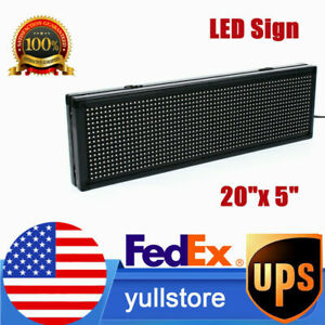 20 x 5 P8 Full Color Led Sign Programmable Scrolling Message Board Semi Outdoor