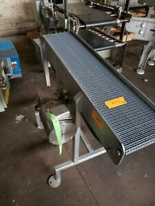 Stainless Steel 10 5 X 46 Washdown Conveyor With Plastic Belt 208 230v 3phase