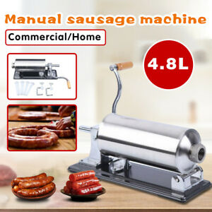 Horizontal 4 8l Sausage Stuffer Maker Machine For Home Kitchen Commercial Use