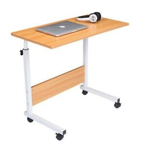 Height Adjust Rolling Laptop Desk Over Sofa Bed Notebook Table Computer Stand