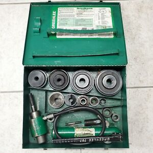 Greenlee 7310sb Knockout Hydraulic Punch Kit Set W Case Works Great