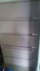 5 Five Drawer Steel Lateral Legal File Cabinet Vertical 5 drawer Local Pickup