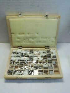 Goudy 18 Pt Kingsley Stamping Machine Letter Set Lower Case Spacers