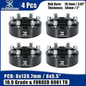 6 Lug 6x5 5 2 Thickness Wheel Spacer Adapter Set For Nissan Titan 2004 2015