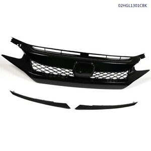 Fit For 2016 18 Honda Civic Type R Style Sedan Coupe Front Bumper Grille Hood