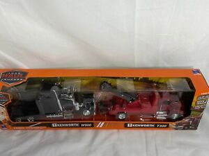 New Ray 143 Long Haul Truckers Kenworth W900 And T300 Set Brand New