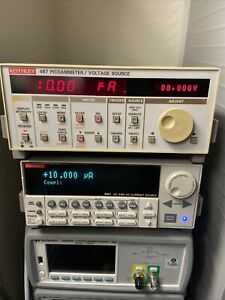 Keithley 487 Picoammeter Voltage Source 500vdc 10fa To 2ma tested