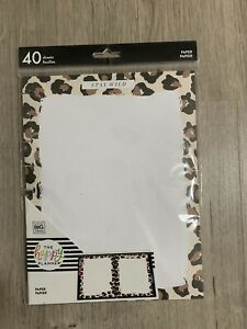 Happy Planner 40 pk stay Wild Filler Paper classic