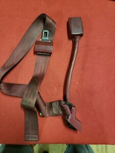 88 98 Chevy Gmc Truck Bench Seat Center Seat Belt And Latch Combo Bendix Red