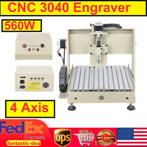 4 Axis Cnc Router 3040 Engraver 3d Engraving Drilling Milling Cutting Machine