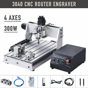 4 axis Engraving Carving Milling Machine Cnc Router W Rotary Axis For Wood More