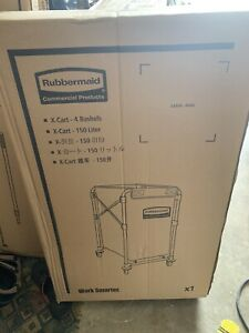 Rubbermaid Commercial Products 1881749 Collapsible Basket X cart 4 Bu Cap