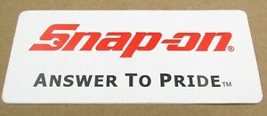 Snap On Tools Sticker Decal Answer To Pride Tool Box Fridge Window