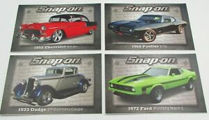 Qty 4 Snap On Tools Sticker Decal Gto Bel Aire Coupe Mach 1 Tool Box Fridge