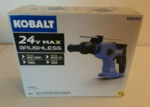 Kobalt 24 volt 7 8 in Sds plus Cordless Rotary Hammer Drill Tool Only