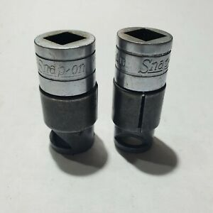 Snap On Tools 3 8 Drive Spring Loaded Oil Pan Sockets F21 F21n Vintage Usa
