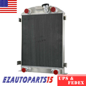 4 Row Racing Radiator For 1930 1931 1932 Ford Model A Ford Flat Head V8