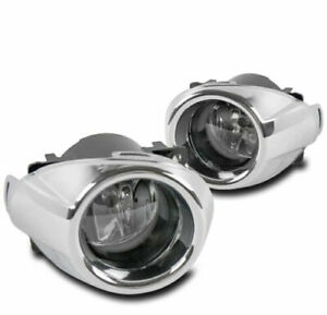For 2012 2014 Ford Focus Front Chrome Clear Lens Bumper Fog Light Lamp W Harness