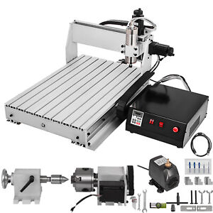 Cnc 6040 4 Axis Router Kit 1000w Pcb pvc wood Cnc Milling 4th Rotary Axis Usa
