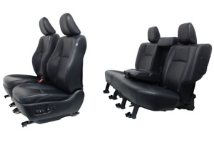 Toyota 4runner Seats Front Rear Black Leather Seat Heated And Cooled Set Fits Toyota