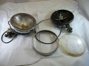 Vintage Cibie 5 E6 8002 Iode 40 Driving Lights For Parts Pair