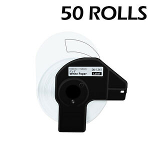 50rolls 4 x6 Large White Paper Shipping Labels Dk 1241 For Brother Ql 1110nwb
