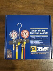 Yellow Jacket 49967 Titan Manifold 3 1 8 With Gauges With Hoses