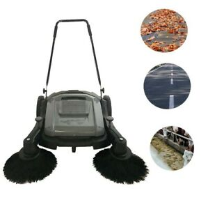 Top grade Triple Brush Push Power Sweeper For Ground Cleaning 41 street Sweep Us