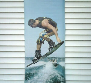 Sexy Wakeboard Man Lake Vinyl Outdoor Sign Banner Commercial Man Cave 30 X 82