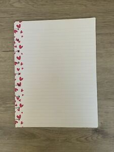 Happy Planner 20 Sheet Classic Filler Paper Pink Heart Dot Lined