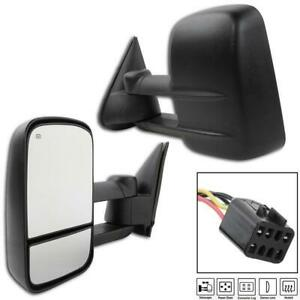 Pair Towing Mirrors Power Heated For 2000 2001 2002 Chevy Suburban 1500 2500