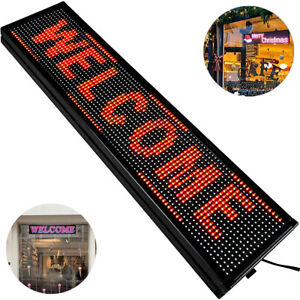 P10 Red Led Sign 40 X 8 W High Resolution Programmable Led Scrolling Display