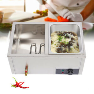 Commercial Countertop Electric Food Warmer Steamer 2 pan Buffet Table Steamer