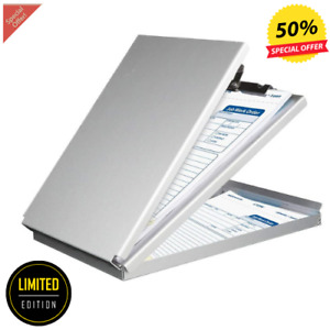 Metal Storage Clipboard Office Document Paper Box Organizer Container Memo Size