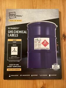 Avery 60501 Ultraduty Ghs Chemical Labels 8 1 2 X 11 50 Labels ave60501 Sealed