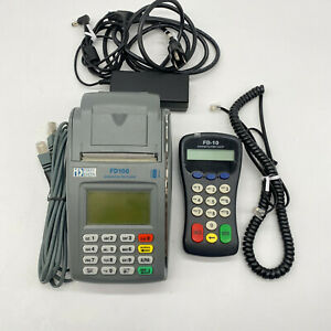 First Data Fd100 Credit Card Machine W Fd 10 Pinpad Terminal With Power Cords