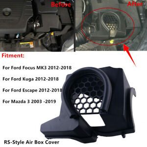 Hood Air Box Intake Filter Cover Trim Fit For Ford Focus Mk3 Rs Escape Mazda 3