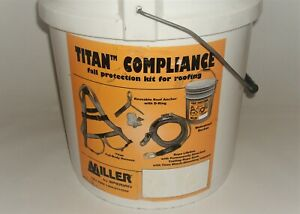 Miller Titan 50ft Titan Compliance Harness Roofing Fall Protection Kit Full Body