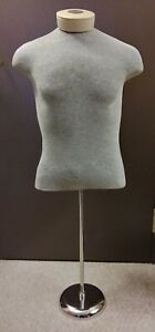 Men s Adult Mannequin Torso W chrome Stand Used