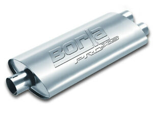 Borla Universal Oval 2 5 In Dual 2 5 Out 19 X 4 X9 5 Notched Pro Xs Muffler