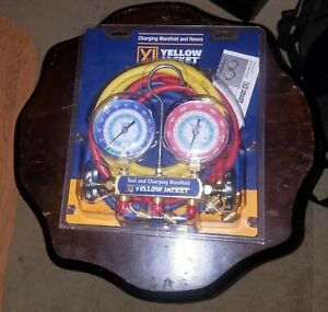 Yellow Jacket 42006 Series 41 Manifold With 3 1 8 Gauge Psi R 22 134a 404a